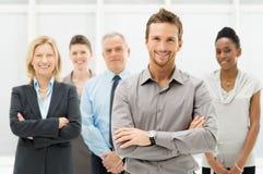 Portrait des hommes d'affaires heureux Images stock