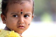 Portrait des indischen Kindes Stockfotos