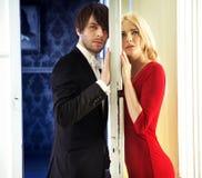Portrait des jeunes couples calmes Photo stock