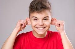 Portrait des jugendlich Jungen Stockfotos