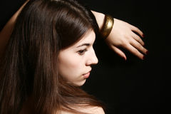 Portrait des jungen Brunette Lizenzfreies Stockbild