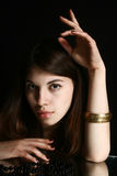 Portrait des jungen Brunette Stockbild