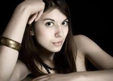 Portrait des jungen Brunette Lizenzfreie Stockfotos