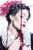 Portrait des jungen Brunette Stockfoto