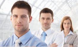 Portrait des jungen businessteam Lächelns Stockbilder