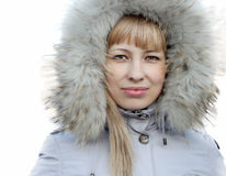 Portrait des jungen Mädchens in einer Jacke Stockfotografie