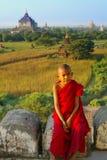 Portrait des jungen Mönchs Stockfotografie