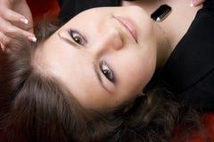 Portrait des jungen schönen Brunette Stockbild
