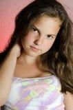 Portrait des jungen schönen Mädchens stockfoto