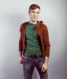 Portrait des jungen schönen Mannes Lizenzfreie Stockbilder