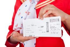 Portrait des jungen schönen Stewardess Stockbild