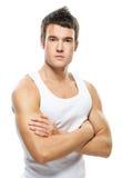 Portrait des jungen stattlichen Mannes Stockbild