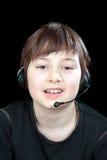 Portrait des Kindes beim Plaudern lizenzfreie stockfotografie