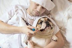 Portrait des kranken Mannes Lizenzfreie Stockbilder