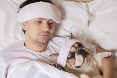 Portrait des kranken Mannes Lizenzfreies Stockfoto