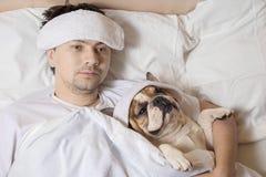 Portrait des kranken Mannes Stockbild