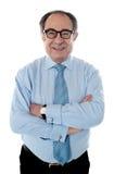 Portrait des lächelnden gereiften Wirtschaftlers lizenzfreies stockbild