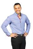 Portrait des lächelnden jungen Mannes Getrennt auf weißem Hintergrund Stockfotos