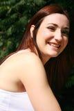 Portrait des lächelnden Mädchens Stockbilder