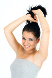 Portrait des Lächelns des recht jungen Mädchens Lizenzfreie Stockfotos
