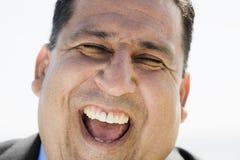 Portrait des lachenden Mannes stockbilder