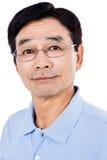 Portrait des lunettes de port d'homme sûr Images libres de droits