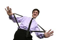 Portrait des lustigen Geschäftsmannes lizenzfreies stockbild