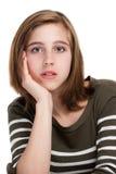 Portrait des Mädchens des jungen jugendlich Lizenzfreies Stockfoto