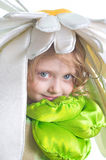 Portrait des Mädchens in einem Kostüm Stockfoto
