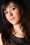 Portrait des Mädchens mit braunen Augen stockfotos