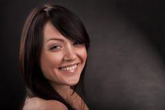 Portrait des Mädchens mit Lächeln stockfotos