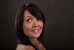 Portrait des Mädchens mit Lächeln Stockfotografie