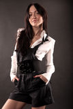 Portrait des Mädchens mit Lächeln Stockbild