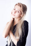 Portrait des Mädchens mit thoughful Blick Lizenzfreie Stockfotografie