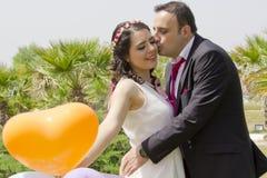 Portrait des ménages mariés heureux Images libres de droits