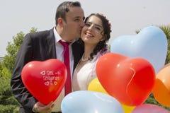 Portrait des ménages mariés heureux Images stock