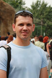 Portrait des Mannes auf der Straße lizenzfreies stockfoto