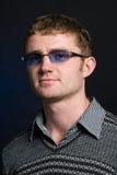 Portrait des Mannes in den Gläsern Lizenzfreies Stockfoto