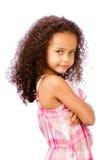 Portrait des Mischrennenmädchens stockbild