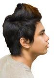 Portrait des miserabelen asiatischen Jugendlichen Stockfotos