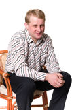 Portrait des Mittelaltermannes Lizenzfreie Stockfotos