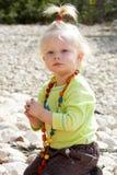 Portrait des netten blonden Mädchens Lizenzfreie Stockfotos