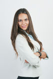 Portrait des netten jungen Geschäftsfraulächelns, Stockbild