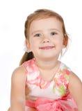 Portrait des netten kleinen Mädchens im Prinzessinkleid Stockfotografie