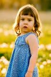 Portrait des netten, konfusen Mädchens Stockbilder