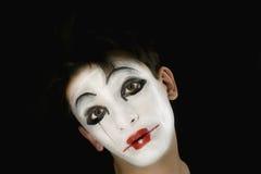 Portrait des Pantomimen Stockfoto
