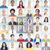Portrait des personnes colorées diverses multi-ethniques photo libre de droits