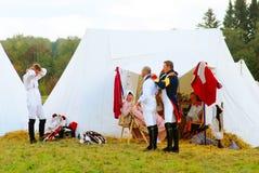 Portrait des personnes dans des costumes historiques Photographie stock