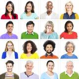 Portrait des personnes diverses colorées multi-ethniques Photographie stock libre de droits