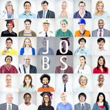 Portrait des personnes mélangées multi-ethniques de professions Photographie stock libre de droits